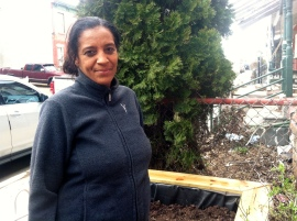 """""""We have a lot of older neighbors. Trying to keep their houses up is really difficult,"""" said Regina Collins, who lives across the street from Lurry on the 3800 Block of Olive Street.  Collins paid for a new roof a few years ago, but leaks that were never repaired eventually caused damage to her kitchen walls and floors. Rebuilding Together provided her with a new roof and volunteers helped Collins begin to rebuild her kitchen."""