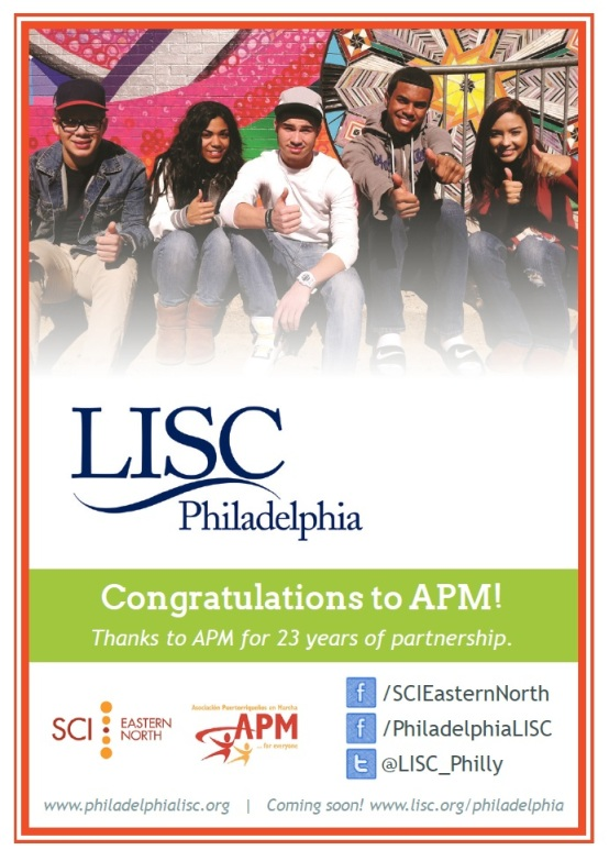 For APM's annual gala, LISC thanks APM for 23 years of partnership